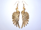 Imperial Wings of Sovereignty Earrings in Polished Bronze