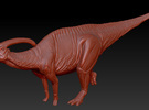 1/40 Parasaurolophus - Hooting in White Strong & Flexible