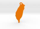 Taiwan Pendant Bigger in Orange Strong & Flexible Polished