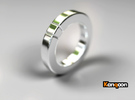 Caleb - Ring - US 6¾ - 17.12 mm in Polished Silver