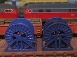 N Scale Steel Cable Reel (Empty)