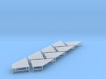 N Scale Angular Loading Dock 4 Left+4 Right