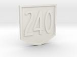 """Immortan Joe """"240"""" Codpiece Badge / Emblem"""