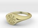 Icelandic Compass Signet Ring