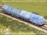 4 x China Clay Hoods for N Gauge Society Kit PKW01