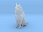 Dog Figurine - Sitting Finnish Spitz 1:43,5 scale
