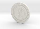 Lucky 38 'Platinum' Chip Pendant