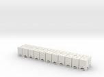 HO 1/87 Square Bins for flatcar loads (x22)