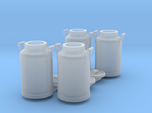Scale 1/35 milk can - set of 4