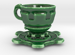 Steampunk Cup  and Saucer