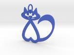 Heart Cat Keychain