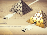 Pyramid - USB cable on the table stationary skid