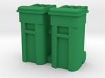 Trash Cart 64 gal - HO 87:1 Scale Qty (2)