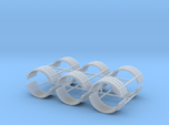 1/64th Dual tire fender set of six