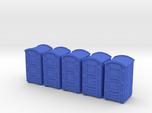 Portable Toilet 01. HO Scale (1:87)