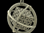 Flower of Life MetaCube with Rings pendant