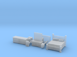 Bedroom set with King Bed N Scale