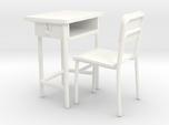 School desk 01. 1:24 Scale