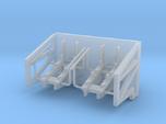 1:96 scale Life Boat side hangers - standard