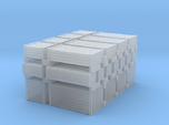 Wood Crates Various Sizes - N 160:1 Scale