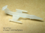 4x 1/350 scale F-104 Starfighter with Gear Down