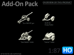 Add-On pack - (Trailers and guns) HO