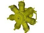 1/15 scale Gnome 7 Omega rotary engine