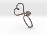Stethoscope Heart Pendant