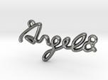 ANGELA Script First Name Pendant