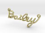 BAILEY Script First Name Pendant