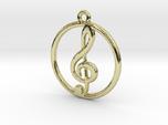 Treble Clef & Ring Pendant