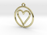 Heart Card Game continuous line Pendant