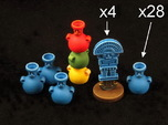 Mayan tech/temple & score tokens (32 pcs)