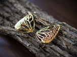 Metal Butterfly Earrings (L)