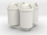 Trash Can 55 Gal HO 87:1 Scale Qty (4)