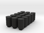 'HO Scale' - (15) 55 Gallon Drums