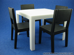 Quatro Modern Dining Table 1:12 scale