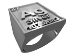Silver Periodic Table Ring Size 8 Solid Ring Band