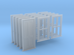HO Scale Bunkhouse Door And Windows 5 Sets