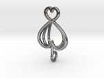 Heart As Open Book Pendant