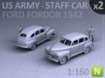 American Staff Car 1942 (N scale) - 2 Pack