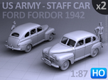 American Staff Car 1942 (HO) - 2 Pack