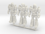 Diaclone Squad, at attention 35mm Minis