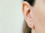 minimal stud earrings