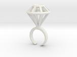 Haxagonal diamond ring  - standard size