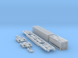 Containertragwagen Sgnss mit 20ft + 40ft Container