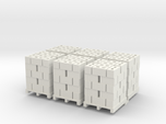 Pallet Of Cinder Blocks 5 High 6 Pack 1-87 HO Scal