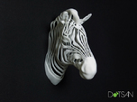 3D Printed Wired Life Zebra Trophy Head Wall