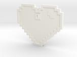Pixel Art Heart Pendant