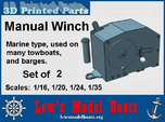 Manual Marine Winch: 1/16, 1/20. 1/24, 1/35 scales